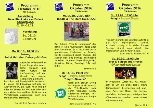 """Oktoberprogramm der """"Frauenstraße 24"""""""