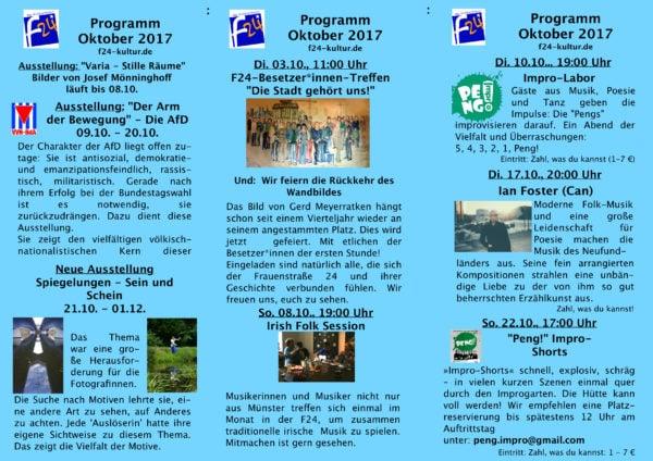 Oktober-Programm 2017