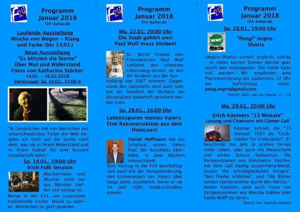 Das Januar-Programm 2018 im Überblick