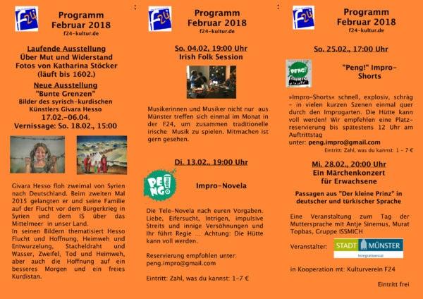 Das Februar-Programm 2018 im Überblick