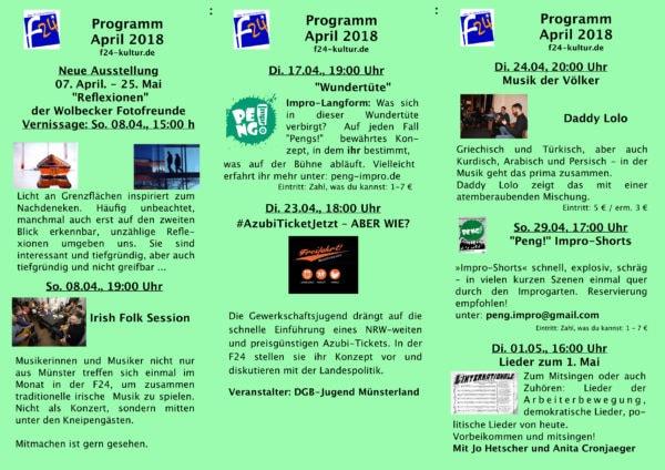 Das April-Programm im Überblick