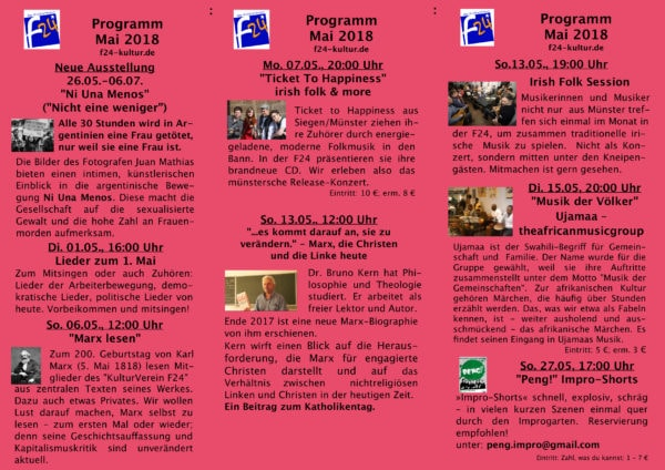 Das Mai-Programm im Überblick