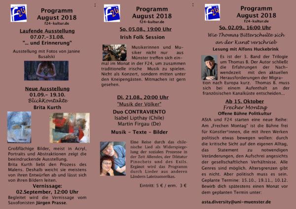 Das August-Programm im Überblick