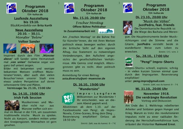Das Oktober-Programm im Überblick