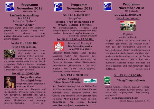 Das November-Programm im Überblick
