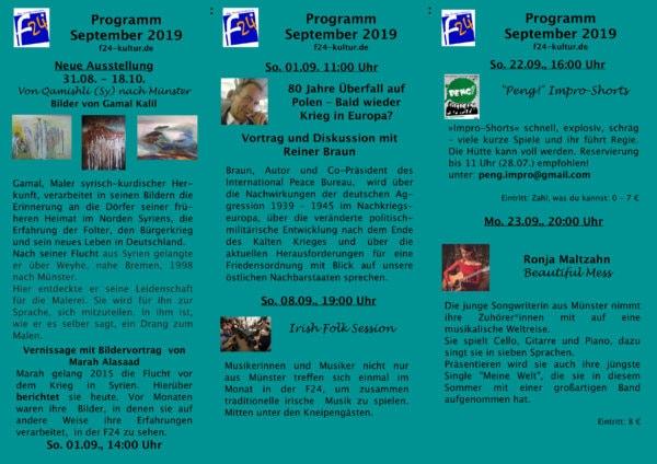 Monatsprogramm September 2019