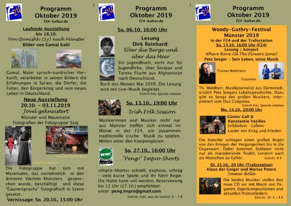 Kulturprogramm Oktober 2019
