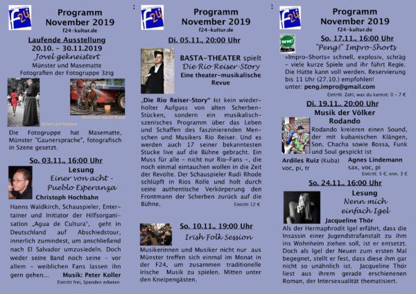Kulturprogramm November 2019
